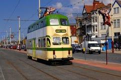 Blackpool-Förderwagen stockbilder