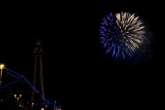 Blackpool Firework display Royalty Free Stock Image