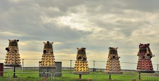 Blackpool illuminations Daleks Stock Images