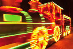 Blackpool illuminations train tram Royalty Free Stock Images