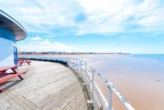 Blackpool-Küste Stockbild