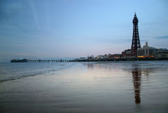 Blackpool-Kontrollturm Stockbild
