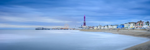 Blackpool la nuit Photo libre de droits