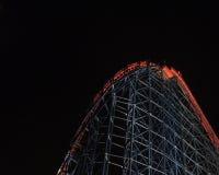 Blackpool - montagne russe la nuit Photographie stock
