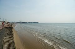 Blackpool na plaży morza Obrazy Royalty Free