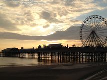 Blackpool-Pier Stockfoto