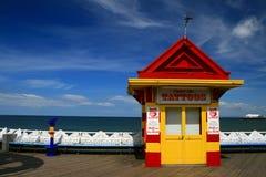 Blackpool-Pier-Tätowierung-Wohnzimmer stockbilder