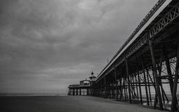 Blackpool pleasure beach black and white.  Royalty Free Stock Photography