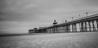 Blackpool pleasure beach black and white.  Stock Photography