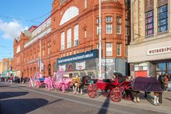 Blackpool promenade royalty free stock photography