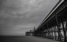 Blackpool przyjemności plaża czarny i biały Fotografia Royalty Free