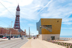 Blackpool-Queens-Promenade Stockfotografie