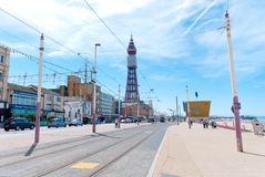 Blackpool Queens Promenade Stock Photos