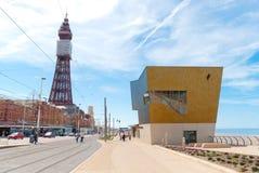 Blackpool Queenspromenad Arkivbild