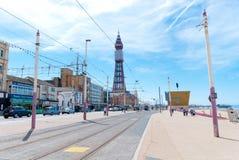 Blackpool Queenspromenad Arkivfoton