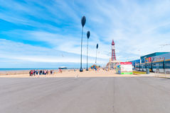 Blackpool Queenspromenad Royaltyfria Bilder
