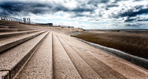 Blackpool sea-wall Royalty Free Stock Photo