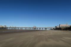 Blackpool-Strand, Nordpier Stockbild