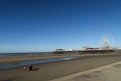 Blackpool-Strand, Südpier Lizenzfreie Stockfotos