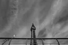 Blackpool torn i monokrom Arkivbilder