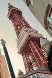 Blackpool torn som tas från gatan under med icecream Arkivbilder