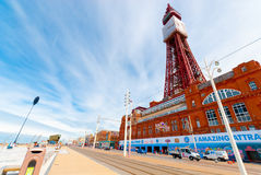Blackpool tower. Iconic Blackpool Tower in Blackpool, England, UK Royalty Free Stock Images
