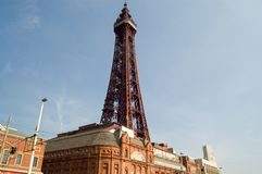 Blackpool tower landscape. Blackpool,uk Royalty Free Stock Photo