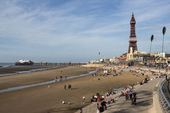 Blackpool Tower and North Pier - Blackpool - England. The old North Pier and Blackpool Tower in the seaside resort of Blackpool on the northwest coast of England Royalty Free Stock Images