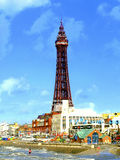 Blackpool Tower & seafront, November Stock Images