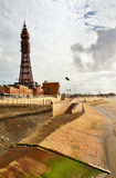 Blackpool Tower viewed from the seafront. Stock Photography