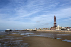 Blackpool-Turm und Nordpier - Blackpool - England Lizenzfreies Stockfoto