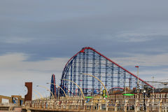 Rollercoaster at Blackpool royalty free stock image