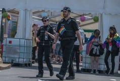 Police at Blackpool Pride festival. Blackpool, United Kingdom - 09.06.2018 Police at Blackpool Pride festival stock photos