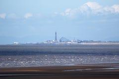 Blackpool vista da distância Fotografia de Stock