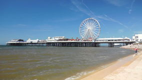 Blackpool-Zentralpier stock footage
