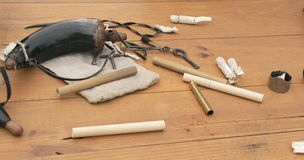 Blackpowder Shooting Supplies royalty free stock images