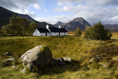 Blackrock Cottage, Glencoe Royalty Free Stock Photos