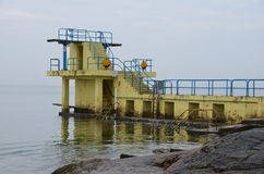 Blackrock diving board Stock Photo