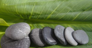 Blacks pebbles stock photos