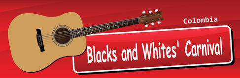 Blacks and Whites Carnival Royalty Free Stock Image