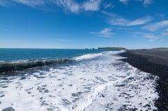 Blacksand plaża Obraz Stock
