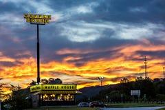 Blacksburg, SC - 2-ое октября 2016: Дом Waffle в Blacksburg s стоковое фото