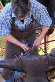 Blacksmith. At work stock photography