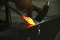 Blacksmith in action Royalty Free Stock Photo
