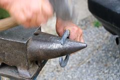 Blacksmith and anvil Royalty Free Stock Photo