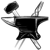 Blacksmith anvil on white background Stock Image