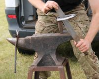 Blacksmith Anvil. Royalty Free Stock Photography