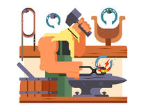 Blacksmith character cartoon Stock Image