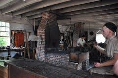 Blacksmith in Colonial Williamsburg, Virginia Royalty Free Stock Photography