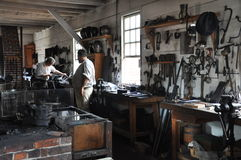 Blacksmith in Colonial Williamsburg, Virginia Stock Photo
